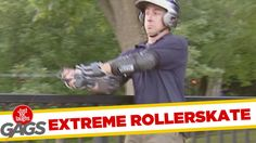 Just For Laughs Gags - Rollerblades Turn Into Rockets ! Just For Gags, Just For Laughs Gags, Funny Gags, Laughing So Hard, Make Me Happy, Rockets, Humor, Laughing, Lol
