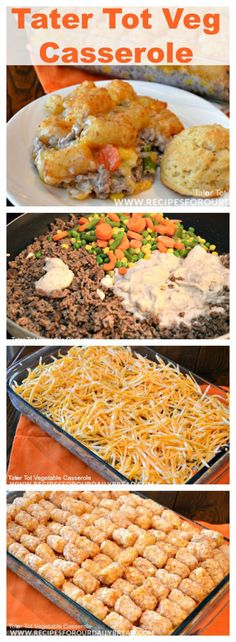 Everyone has this Tator Tot Casserole recipe. So, why did I write about it? I decided to add some #vegetables to it and make this #Tater Tot Vegetable Casserole. Now, this Tater Tot Vegetable Casserole is a one dish yummy #casserole . #beef #dinner #recipe #recipeofday