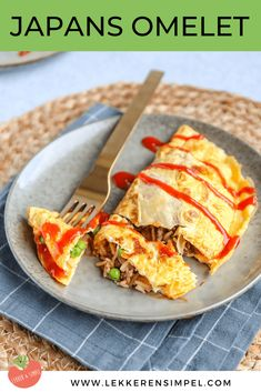 Omelette, Healthy Breakfast Wraps, Asian Recipes, Healthy Recipes, My Favorite Food, Easy Meals, Good Food, Food And Drink, Healthy Eating