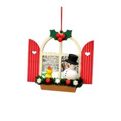 """cool Christian Ulbricht Ornament - Window with SnowmanAlexander Taron Christian Ulbricht Ornament - Window with Snowman - 2.75""""""""H x 3""""""""W x 1""""""""D Check more at http://christmasshortstory.com/product/christian-ulbricht-ornament-window-with-snowman/"""