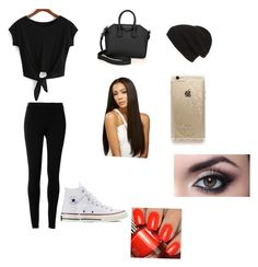 """""""YouTube inspired"""" by lhe02 on Polyvore featuring Max Studio, Converse, Givenchy, Phase 3 and Rifle Paper Co"""
