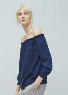 Soft fabric blouse - Shirts for Women   MANGO USA