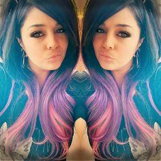 #mermaidhair #darkmermaidhair #getfancyhairextensions