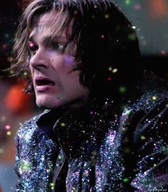 I've never seen a man so big, covered in glitter, looking so horrified.