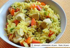 Currys rizs csirkemellel | NOSALTY – receptek képekkel