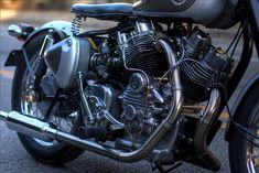 Royal Enfield Musket V-Twin; built by mating two 500c singles to a custom-engineered crank & case!