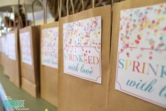 Sprinkle Birthday Party {Details}http://theturquoisehome.com/2014/01/sprinkle-birthday-party-details/