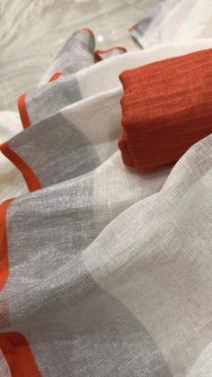 Items similar to Linen saree Organic Linen by Linen sarees with zari Work and blouse piece Organic handwoven 100 count Linen saree Stitched blouse on request on Etsy