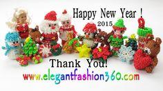 Rainbow Loom Happy New Year 2015 - Thank You from Elegant Fashion 360 Rainbow Loom Christmas, Holiday Ornaments, Holiday Decor, Christmas Tree, Loom Bands Tutorial, Happy New Year 2015, Love Drawings, Lovers Art, Birthdays