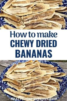 These chewy dried bananas are unbelievably delicious, simple to make, AND good for you! Satisfy your sweet tooth while getting vitamins, minerals, and more. Check out this super-easy, 1-ingredient recipe. #driedbananas #bananarecipes #realfood #dehydrating #dehydratingrecipes #foodpreservation #vegan #glutenfree Real Food Recipes, Healthy Recipes, Dried Bananas, Clean Eating, Healthy Eating, Green Living Tips, Dehydrator Recipes, Banana Recipes, Healthy Treats