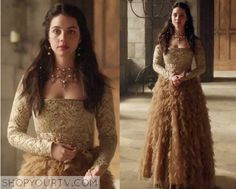 http://www.shopyourtv.com/2016/01/reign-season-3-episode-1-marys-gold-layered-gown/