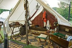 HMS Acasta: 7 Stupid things asked of Historical Reenactors Bell Tent Camping, Best Tents For Camping, Camping Life, Campsite, Shower Tent, Wall Tent, Renaissance, Campaign Furniture, Camping Lanterns