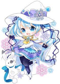 Glorious Manga Cosplay in Paris and Ideas Loli Kawaii, Kawaii Chibi, Kawaii Art, Kawaii Anime Girl, Dibujos Anime Chibi, Cute Anime Chibi, Hatsune Miku Vocaloid, Kaito, Manga Anime