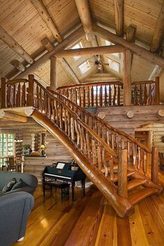 Wood staircase-web