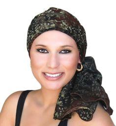 Chestnut Turban, Head Wrap, Alopecia Scarf, Chemo Hat, Hat