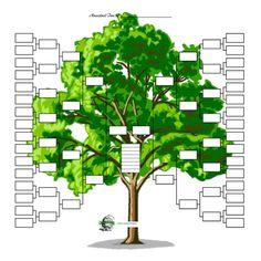 Printable Blank Family Tree  Diy    Grficos
