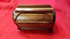 Unique Jewelry Box, Keepsake Box, Band Saw Box, with Ribs and Flocked Drawer by JasBre on Etsy