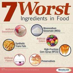 7 Worst Ingredients in Foods - #Cooking, #Food, #Health