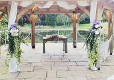 Another idea for the beautiful outside space @moddershalloaks #parsleyandsage #wedding #stokeontrentflorist