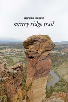 Misery Ridge Smith Rock State Park Oregon - iconic hike in the park offers scenic views of Crooked River and Monkey Face. Check out detailed info on the hike here // localadventurer.com