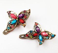 Multicoloured Butterfly Hair Clips £3.00