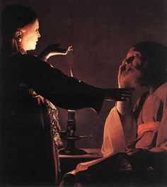 Georges de La Tour, The Dream of St. Joseph,c. 1640, oil on canvas, 93 x 81 cm (Musée des Beaux-Arts, Nantes, France)