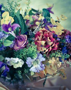 Davids Floral, Landscaping, and Vintage Inspired Living: August 2012  Victoria Brotherson. Scarlet & Violet Flowers.
