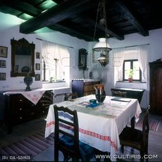 Hungarian folk architecture from the north of Hungary Budapest, Heart Of Europe, European House, Cottage Interiors, Design Case, Kitchen Styling, Traditional House, Building A House, House Plans
