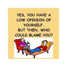 PSYCHology joke Postcard by jimbuf