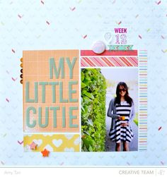 #papercrafting #scrapbook #layout idea: My little cutie - Studio Calico Planetarium kits