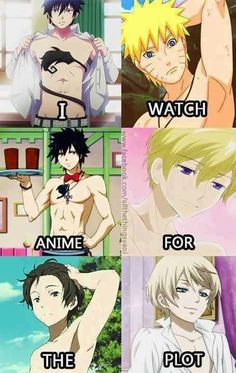 I watch Anime for the plot.