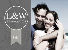 Stoere trouwkaart met eigen foto- Greetz