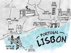 lisbon map city trip