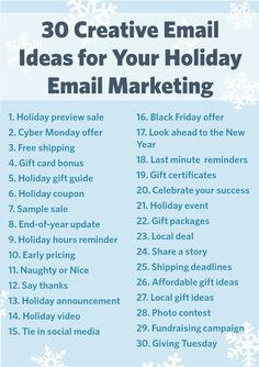 If you're like a lot of small businesses, email marketing will play an important role in your promotion plan this holiday season. With email marketing you can create a series of timely messages to announce your holiday plans, remind people about importan Email Marketing Strategy, E-mail Marketing, Small Business Marketing, Affiliate Marketing, Internet Marketing, Marketing Software, Content Marketing, Online Marketing, Salon Business