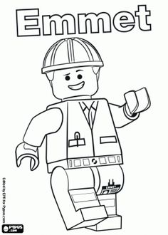 The LEGO Movie Coloring Pages legominifigures