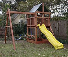 Triton Redwood Fort/ Swingset And DIY Plans Gallery