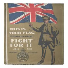 #vintage - #Vintage poster - This is Your Flag Duvet Cover
