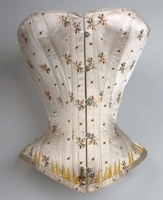 "Flowered: ""For Countess Nadasdy"" Corset, c. 1880-1885. Courtesy of the Vienna Museum. The Parasol Protectorate"