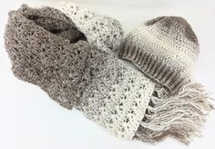 Extra Long Scarf Slouchy Hat Super Scarf Cream Beige Tan Neutral Hat and Scarf Fringe Scarf Winter Hat Handmade Crochet Trendy Scarf Beanie by CuriousPurplePig on Etsy https://www.etsy.com/listing/503319911/extra-long-scarf-slouchy-hat-super-scarf