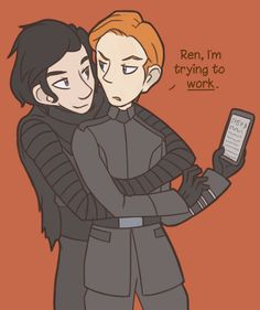 picas-art:  In which Ren knows Hux hates hugs so he makes sure he gets them at least ten times a day.