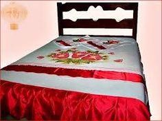 colcha pintados em tecido
