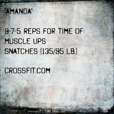 Image result for crossfit amanda workout pic
