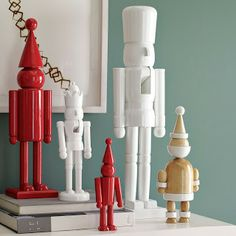 Flea markets and yard sales are filled with vintage nutcrackers, they are so affordable and you can unify your collection by spray painting them all a solid color!