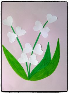 Sprigs of lily of the valley for May Summer Crafts, Diy And Crafts, Paper Crafts, Diy For Kids, Crafts For Kids, 1. Mai, Coloring Sheets For Kids, Art N Craft, Spring Activities
