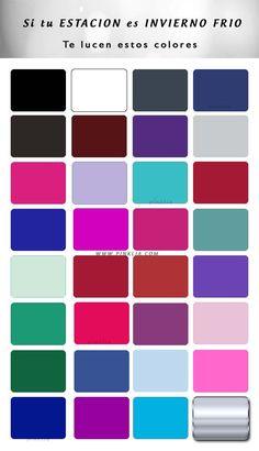 Paleta de colores para la estación invierno frío
