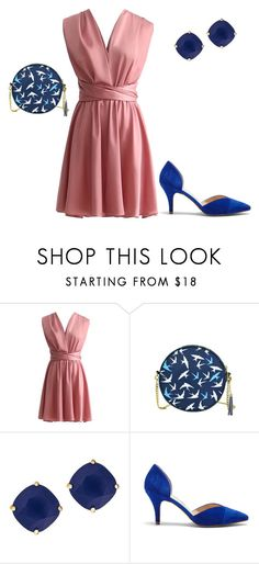 Wedding guest by laura-paasivirta on Polyvore featuring Sole Society, Kate Spade, simple, Pink, Blue and affordable
