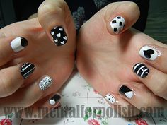 easy mixup mismatched nail art designs