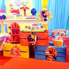 Paw Patrol Theme Party, Paw Patrol Birthday, 4th Birthday Parties, 3rd Birthday, Cumple Paw Patrol, Puppy Party, Party Themes, Party Ideas, Party Favours