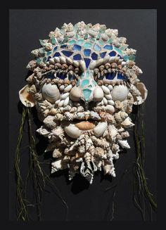 "Seashell mask ""Neptune""by Savanna Redman"
