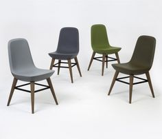 UK designer Benjamin Hubert's Pebble Chair, inspired by pebbles on the beach